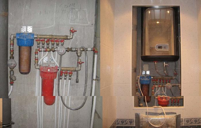 Разводка воды в туалете